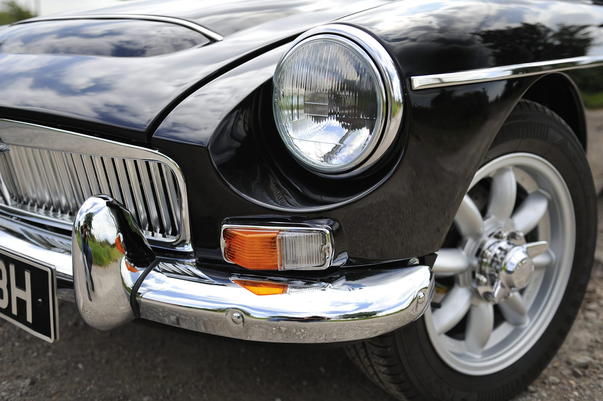 Black MG classic car